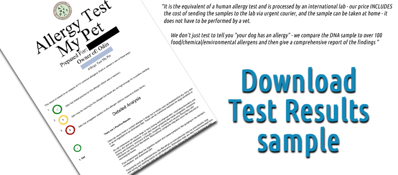 Download DNA Allergy Test Sample for Pets from MuttMix on PetHealthcare