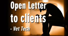 Vet Tech writes open letter to her clients Pet Healthcare Missouri Vet Tech Association